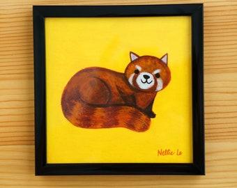 Red Panda - Framed Mini Painting