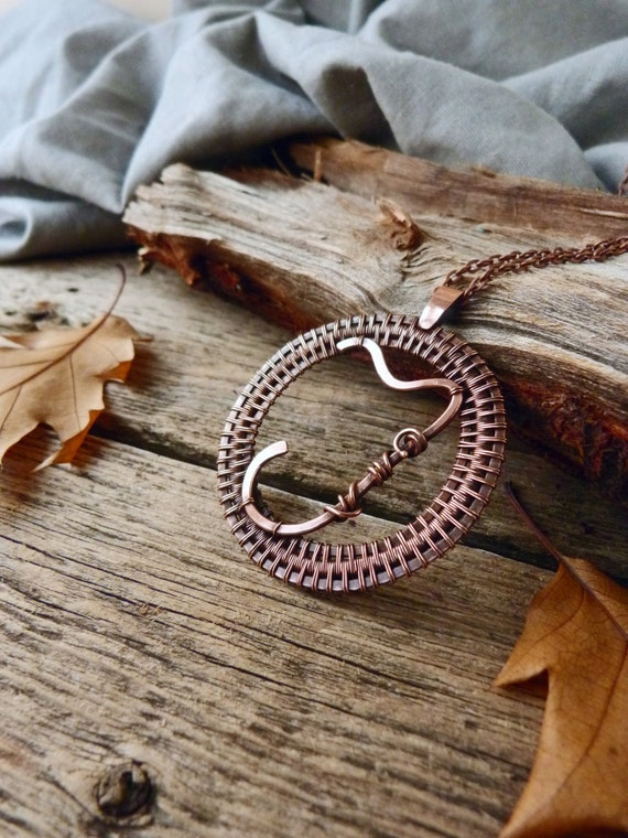 personalized copper necklace j monogram necklace wire