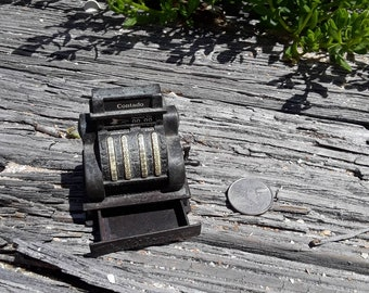 Vintage cash register pencil sharpener, miniature cash register