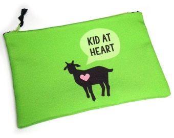 Zipper Bag, Project bag, Kid at Heart, Goat