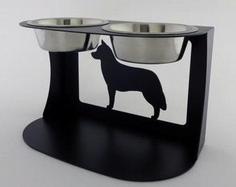 Siberian Husky Dog Bowl Stand