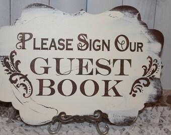 Wedding Sign Guest Book Sign/Please Sign Our/Photo Prop/U Choose Colors/Great Shower Gift