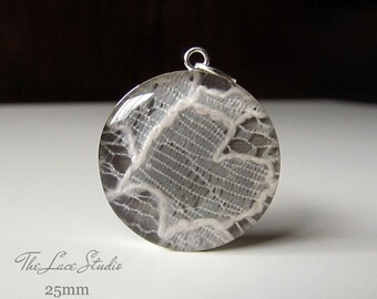 Lace Pendant / Memorial Bouquet Charm / Custom / Made With Your Wedding Dress / Something Old / Something Blue / Sentimental / Momento