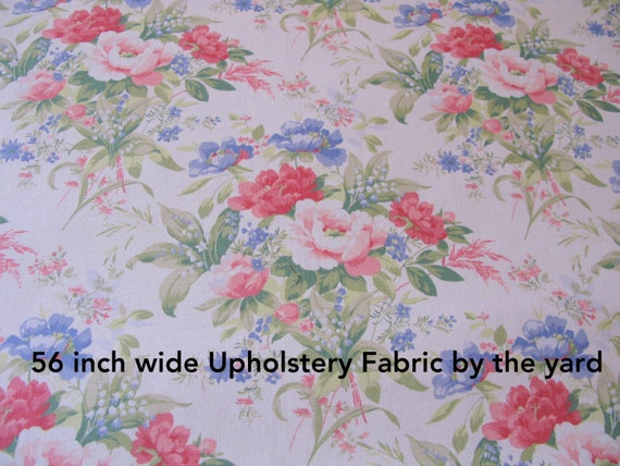 shabby chic fabric 1 yard floral upholstery 56 wide fabrics rh etsystudio com  shabby chic fabric flowers for sale