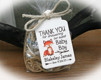 Fox baby shower etsy fox baby shower favor woodlands baby shower favor kit baby shower favor kit negle Choice Image