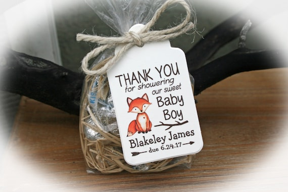 Beautiful Fox Baby Shower Favor Woodlands Baby Shower Favor Kit Baby