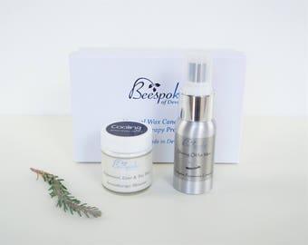 Aromatherapy Men's Shaving oil and cream, Gift Set for Men,