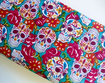 Sugar Skulls - David Textiles - Cotton Woven fabric by the yard sewing quilting