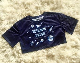 Yamaguchi Space Girl - Short Cropped tee