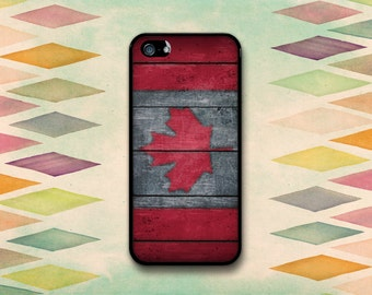 Vintage Canadian Flag Case: iPhone 4 // 4s, 5c or 5 // 5s