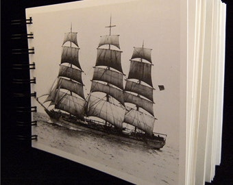 SKETCH JOURNAL Notebook Notables 1910 Seafaring Heritage Vintage Postcard Covers
