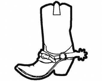 Machine Embroidery Design   cowboy boot applique' with a spur  #267