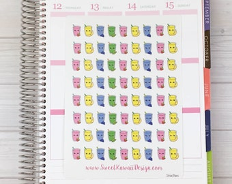 Kawaii Smoothies  Stickers
