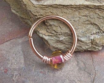 16g 18g 20g Rose Gold Hoop Pink Hoop Earring Nose Hoop Nose Ring Cartilage Hoop Tragus Hoop