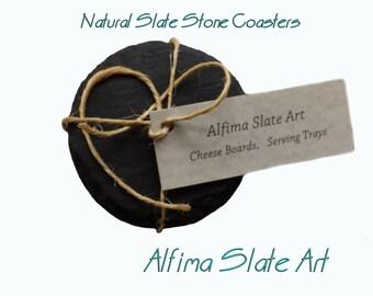 COASTERS - NATURAL SLATE set of 4