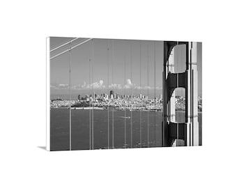 San Francisco Skyline Photograph, Golden Gate Bridge Art, Black and White San Francisco Picture, Golden Gate Bridge Gift, San Francisco Gift