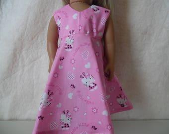 Hello Kitty long dress for American Girl dolls, Springfield dolls