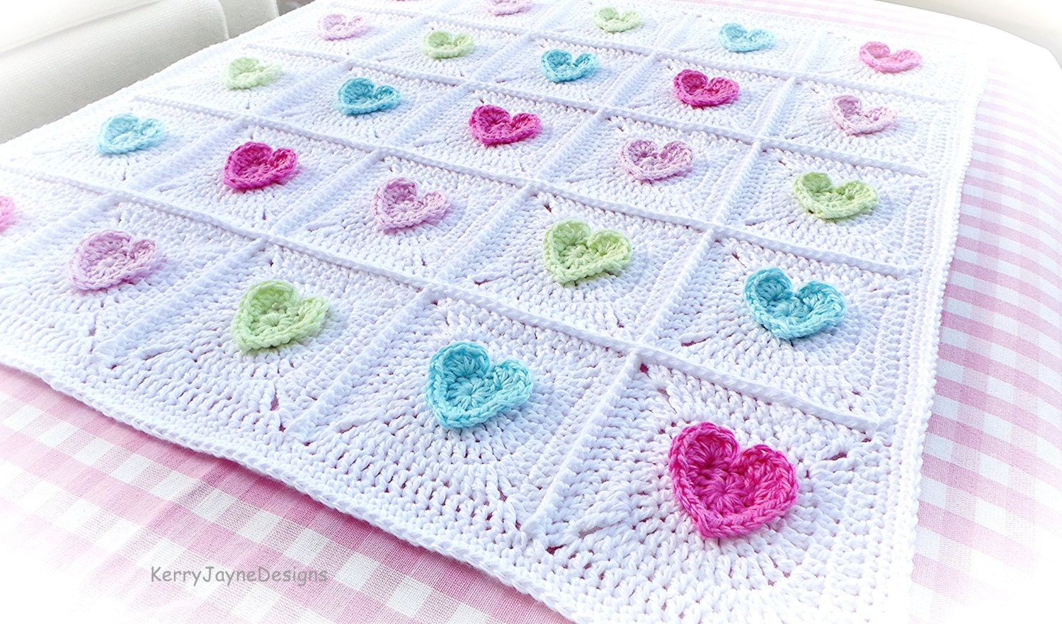 Crochet pattern all heart blanket crochet blanket pattern zoom bankloansurffo Images