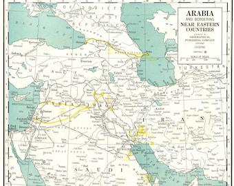 Iraq map Etsy