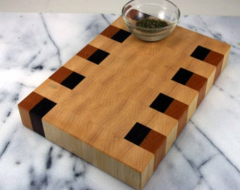 Maple, Walnut and Cherry / End Grain