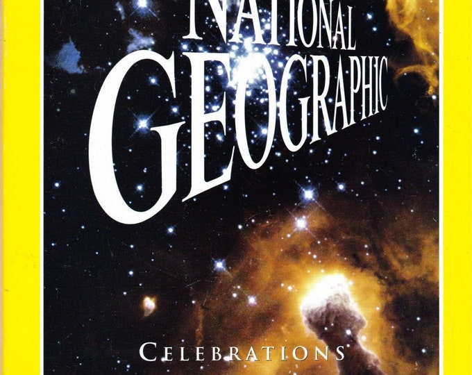 Vintage National Geographic Magazine, January 2000, Celebration Of Earth And Beyond, Millennium Issue, Vintage Magazine, Nat Geo, Geography