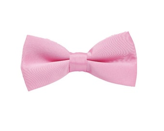 Wedding Bowtie.Pink Pre-tied Bowties.Mens Bowties.Groomsmen Bowtie.