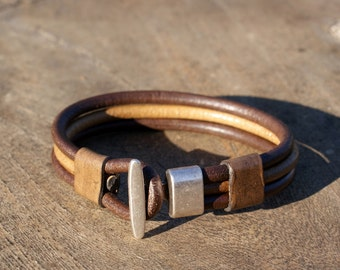 Mens leather bracelet, mens leather jewelry