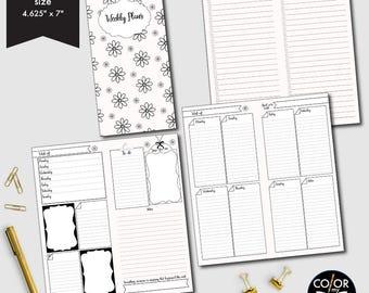 Mini HP Size Weekly printable, week on two pages, weekly planner, weekly calendar, weekly agenda printable, CMP-222.13