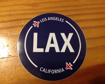 Los Angeles LAX California Souvenir Airport Sticker