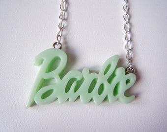 Necklace - Barbie - light green