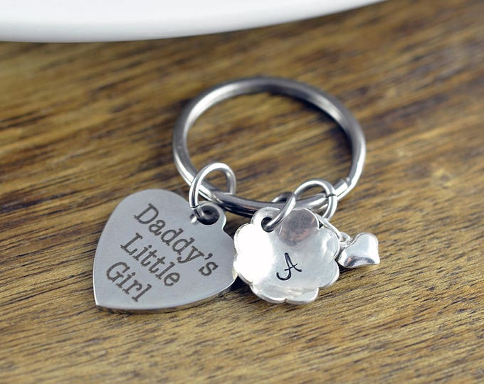 Daddy's Little Girl Keychain, Personalized Keychain, Daughter Keychain, Jewelry for Daughter from Father, Custom Daddy's Girl Jewelry