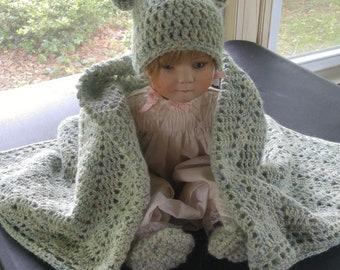 Handmade alpaca baby blanket