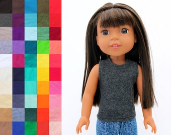 Fits like Wellie Wishers Doll Clothes - The Basic Tank Top, You Choose Color | 14.5 Inch Doll Clothes