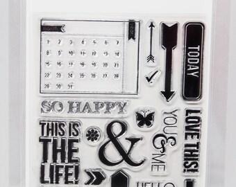 KaiserCraft Calendar Captured Moments Collection Clear Stamps -- Acrylic -- Calendar