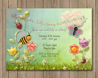 Fairy Tale Birthday Invitation | In the Garden Storybook Birthday Invitation |  Printable Digital  DIY 1157
