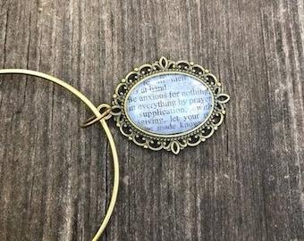 Scripture  Bracelet Philippians 4:6 Antique Bronze Expandable Bangle