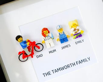 Father's Day Gift - Lego® Family Frame - Personalised by you!