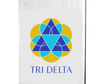 Delta Delta Delta, Tri Delta, Delta Delta Delta Flag, Tri Delta Flag, big little, sorority flag, sorority gift, greek flag, garden flag