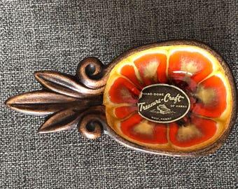 Vintage Treasure Craft Souvenir Pineapple Dish