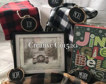 Chalkboard Wood Christmas Ornaments, Rustic Christmas Ornaments, Custom Wood Ornaments, Christmas Ornaments, Natural Ornaments
