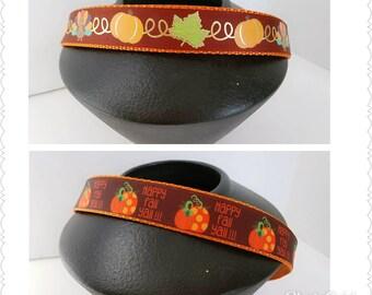 Happy fall ya'll pumpkin dog collar, Thanksgiving pet collar, Turkey and pumpkin dog collar, Dog collar,  Fall dog collar