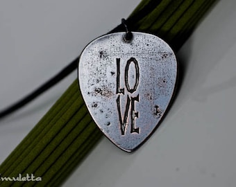 Valentine gifts for him, LOVE, Valentine's day gifts, guitar pick necklace -  guitar gifts for boyfriend, husband