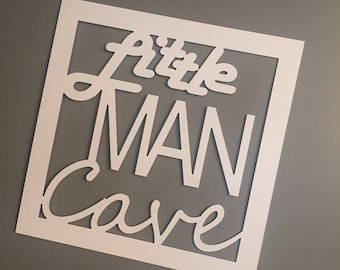 Little man cave wall hanging