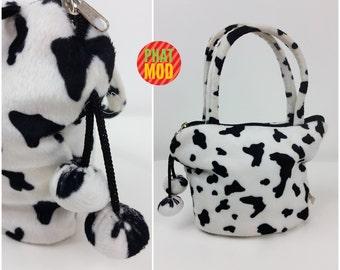 Club Kid Fuzzy Black & White Cow or Dalmatian Print Small and Sassy Bag!