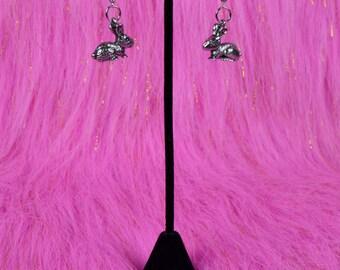 Bunny Rabbit Silver Earrings