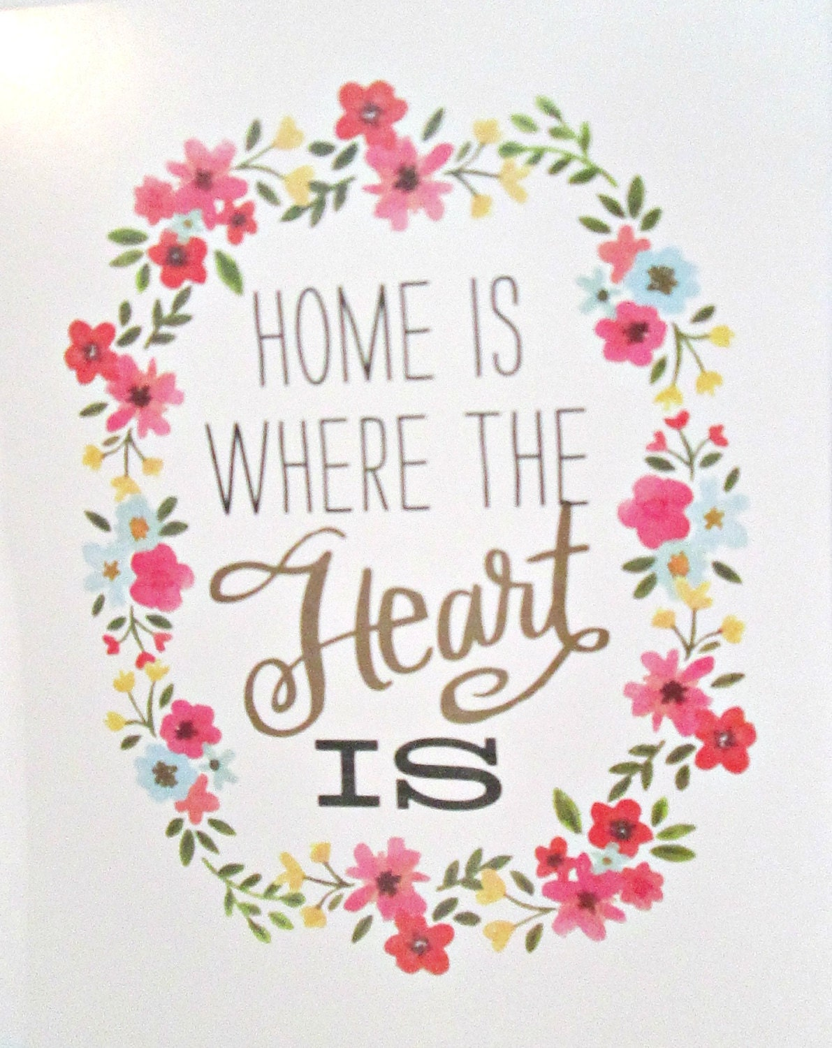 Home Is Where The Heart Is Quote Art Print Quote Art Print Home Is Where The Heart Is Quote Art