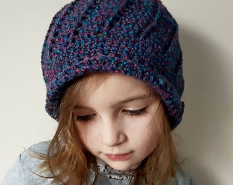 Girl crochet cloche hat bonnet spring