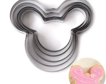 Mickey Mouse Cookie Cutters, Stainless Steel, Set of 5 Nested Cookie Cutters