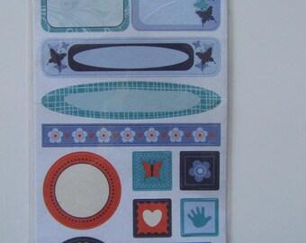 Scrapbooking embellishments stickers 14 stickers Boy