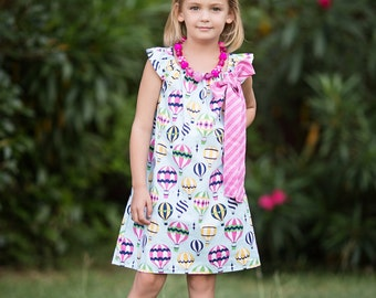Baby Hot Air Balloon Dress- Baby Dress- Baby Party Dress-Toddler Party Dress- Toddler Dress- Baby Outfit- Gift for Baby- Toddler Girls Dress